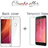 REDMI Y1 TRANSPARENT BACK COVER + TEMPERED GLASS (COMBO DEAL)