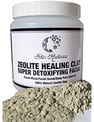 Skin Radiance™ Zeolite Healing Clay 250g - Mud Mask & Face Scrub Exfoliator, Facial Anti Ageing Blackhead & Acne Treatment For All Skin Types.