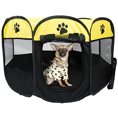 BIGWING-Style-Pet-Play-Pen-Portable-Foldable-Puppy-Dog-Pet-Cat-Rabbit-Guinea-Pig-Fabric-Playpen-Crate-Cage-Kennel-Tent