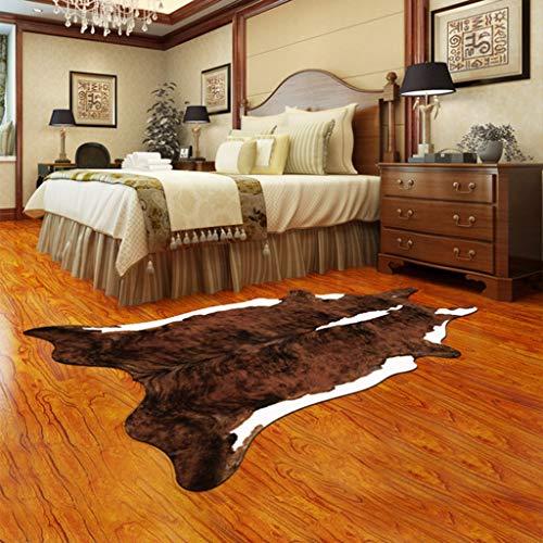YUER Dekoration persönlichkeit Mode Simulation Tier Haut Druck kunstpelz Teppich Wohnzimmer Schlafzimmer nachtmatte tür Matte (Farbe : C) - Tier-haut-teppich