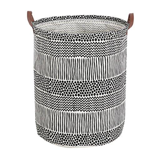 Dooxi Multifunktionale Faltbarer Schmutzige Kleidung Wäschekorb Household Rund Wäschebox Wasserdicht Kinder Spielzeug Organizer Aufbewahrungsbeutel mit Henkel (Speisekammer-organizer-körbe)