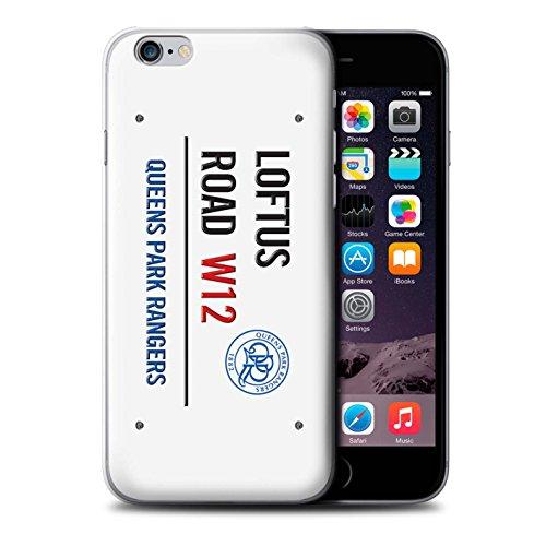 Officiel Queens Park Rangers FC Coque / Etui pour Apple iPhone 6S+/Plus / Blanc/Or Design / QPR Loftus Road Signe Collection Blanc/Bleu