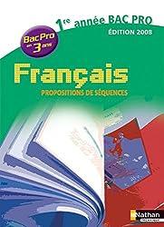 FRANCAIS 1E ANNEE BAC PRO 3 AN