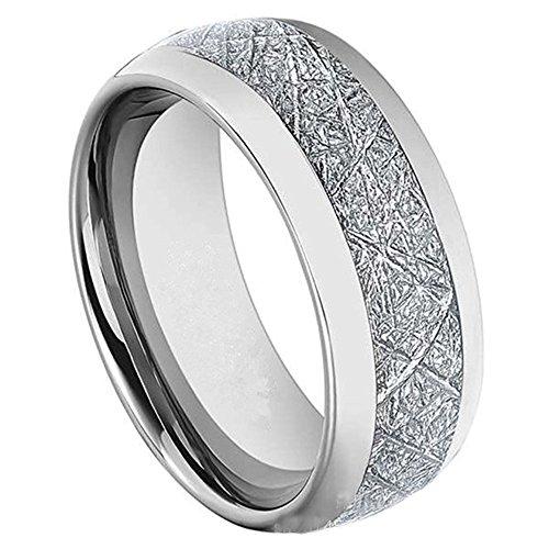 COPAUL Damen Herren 6MM Carbon Wolfram Hartmetall Ring Hochzeit Band hoch poliert Komfort Fit, Größe 65 (20.7) (Hochzeit Band Ring-sizer)