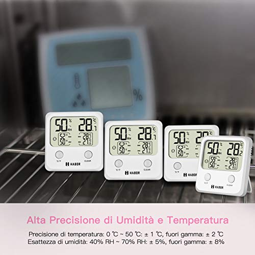 Zoom IMG-2 habor igrometro termometro digitale per