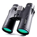 NOCOEX 10x42 HD Roof Prism Compact Binoculars, Water, Fog and Shock Proof, Suitable