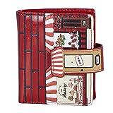 Shagwear portafoglio per giovani donne Small Purse : Diversi colori e design: (pasticceria rosso/ Bakery)