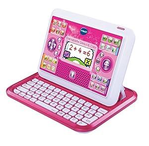 VTech - Ordenador Educativo Genio Little App para niños, Color Rosa, versión Francesa