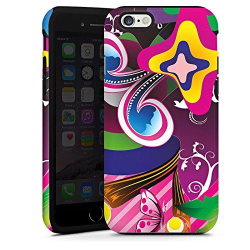 Apple iPhone 4 Housse Étui Silicone Coque Protection couleurs Ornements Fleurs Cas Tough terne