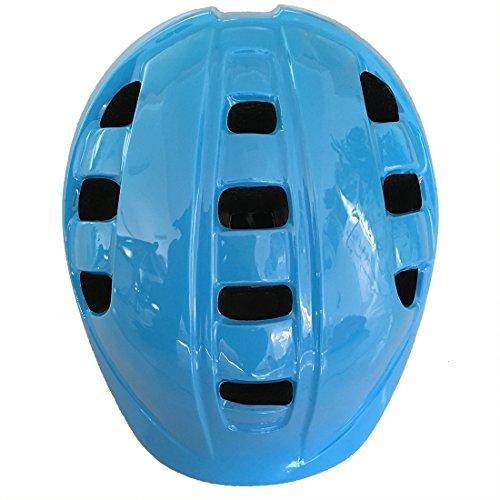 Kinder Fahrradhelm, Erwachsener Fahrrad-Sturzhelm-Fahrrad-Sturzhelm-Reithelm Road, Mountainbike Helm, Rosa, Blau und Weiss Farbe, S (52-56 cm), mit LED Lampe Y-18 (blau)