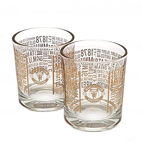 Official Manchester United FC Whiskey Glass Set (2 Pack)