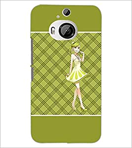 PrintDhaba Smiling Girl D-1316 Back Case Cover for HTC ONE M9 PLUS (Multi-Coloured)