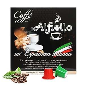100 x alfiello kaffee kapseln 100 kompatibel mit nepresso. Black Bedroom Furniture Sets. Home Design Ideas