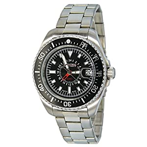 No limit Nautec Herren-reloj analógico de cuarzo de acero inoxidable deep Sea DS QZ-GMT/STSTBKBK de Nautec No Limit