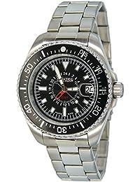 No limit Nautec Herren-reloj analógico de cuarzo de acero inoxidable deep Sea DS QZ-GMT/STSTBKBK