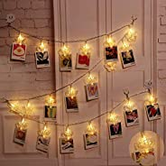 KharidoLive 16 LED Butterfly Shape Photo Clip Lights for Home Decoration (Warm White)
