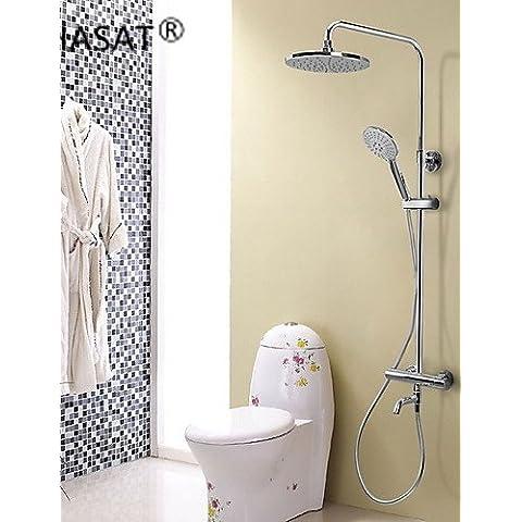 sbwylt-contemporary cromado latón termostático grifo de la ducha con cabezal de ducha