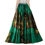 Dheylu Creation Women's Royal Crepe Printed Long Skirt (BC-19, Multicolour, 36 Inch)