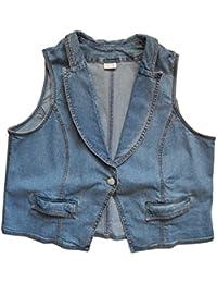 adonia mode Jeansweste Stretch Damen Blue Jeans Übergröße Gr.52, 54, 56