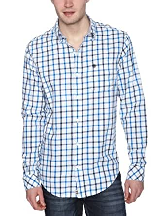 Timberland Long Sleeve Claremont Plaid Men's Shirt Navy Small