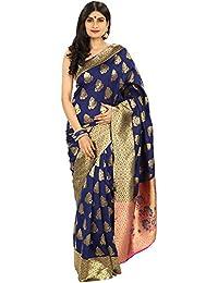 Chhabra 555 Blue Banarsi Silk Saree