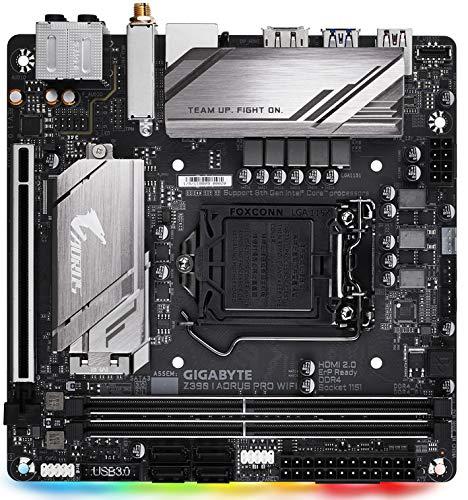 Price comparison product image Gigabyte Z390 I AORUS PRO WIFI Intel Socket 1151 Mini ITX HDMI/DIsplayPort USB C 3.1 Dual M.2 RGB Motherboard - (Components > Motherboards)