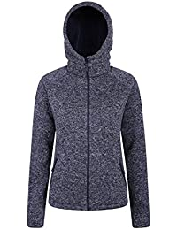 Mountain Warehouse Womens Nevis Fur Hoodie - Soft, Warm, Chin Guard & Fleece Lining with Adjustable Hood & Pockets- Ideal for Cold Weather