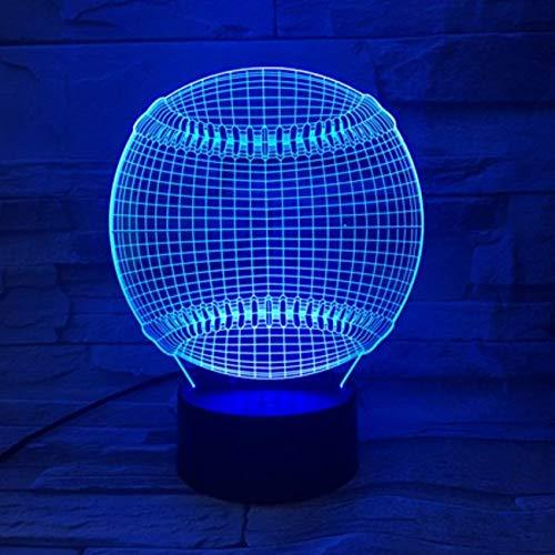Nachtlicht Sport Tennis Ball 3d Led Nachtlicht 7 Farben Ändern Touch Sensor Usb oder Batteriebetriebenes Nachtlicht für Home Room Decor Lampe -