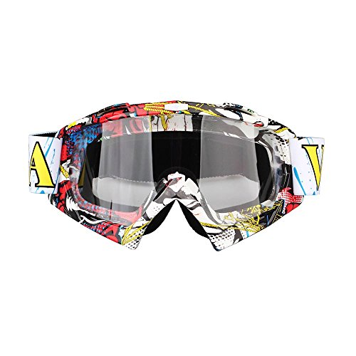 Fodsports Motorrad Goggle Motocross Wind Staubschutz Fliegerbrille Snowboardbrille Schneebrille Skibrille Wintersport Brille Off-Road Schutzbrille (Transparent A)