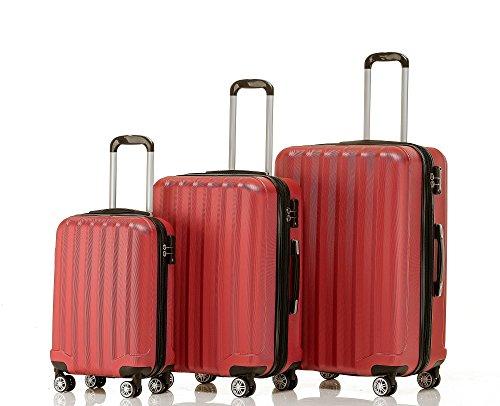 BEIBYE 2080 – Maleta  rojo rojo Set