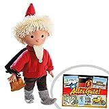 Sandmann 40cm rot Puppe | INKL DDR Geschenkkarte | Ostprodukte | Ideal für jedes DDR Geschenkset | DDR Geschenk