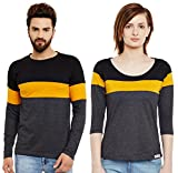 #9: The Dry State Couple's Cotton Multicolour Stylish Tshirt