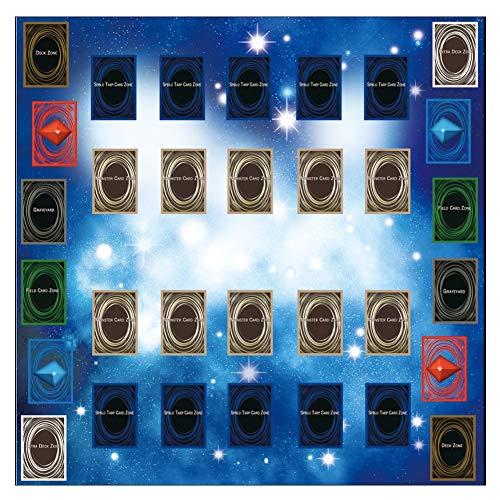 TianranRT Gummi Spielen Matte 60x60cm Galaxy Style Wettbewerb Pad Playmat Für Yu-gi-oh Karte (Karten Spiele Yugioh)