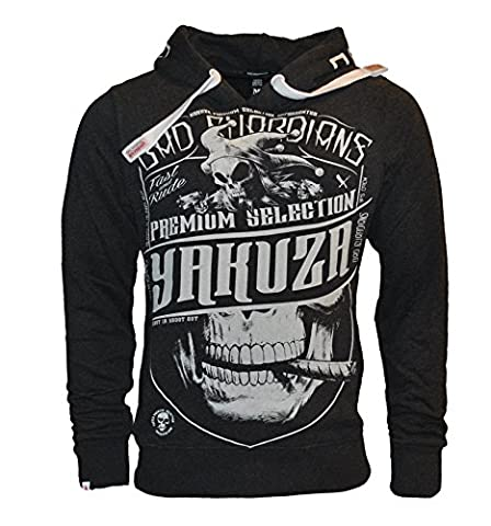 Yakuza Premium Herren Bad Guardian Selection Kapuzenpullover Hoodie YPS - 2221 (2XL)