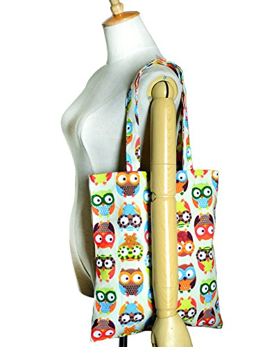 POPUCT, Borsa tote donna Verde owl-1 owl-1