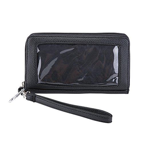 örse mit Touchscreen Veganes Leder, passend für alle Handys ()