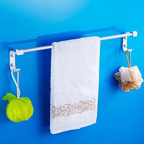 QFF Espace aluminium serviette barre unique serviette de bain tringles grille pendentif salle de bain serviette suspendue allongée (taille : 40 cm)