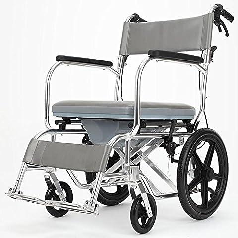 GUO Enjoliveur en alliage d'aluminium Cinturon lumineux assis Chaise fauteuil roulant portable multi-fonctionnel Scooter portable