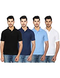 ANSH FASHION WEAR Regular Fit Polo T-shirt Combo For Men - Half Sleeves Cotton Blend Casual Men's Polo - Set Of... - B0731BSY22