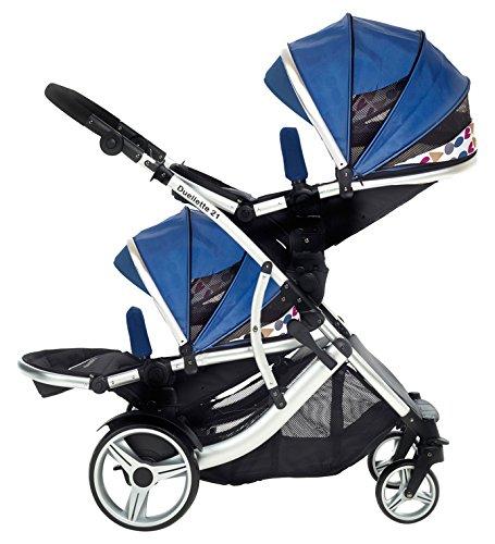 Kids-Kargo-Duellette-21-BS-Travel-System-Pram-Double-Pushchair-Blue