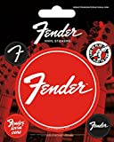 Fender - Fender Loving Care, 5 Sticker Vinile Sticker Adesivo (12 x 10cm)