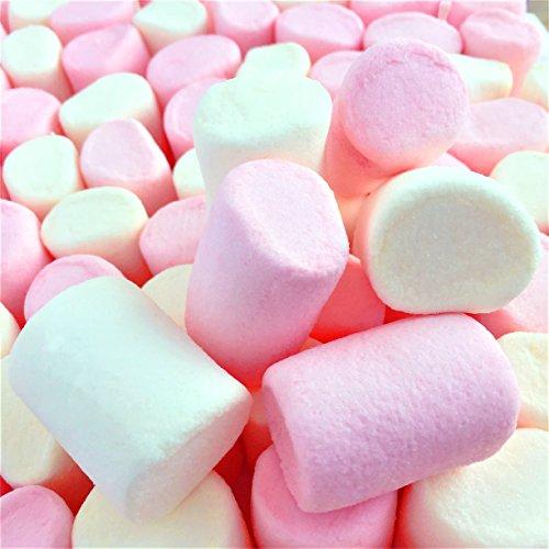 100% Natürlich Gefärbte Marshmallows Rosa Weiße Tubes (1 Kilogramm) Große flauschige und leckere Vanille Schaumzucker von Hoosier Hill Farm
