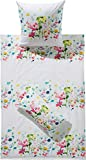 Janine Mako Soft Seersucker Bettwäsche Tango 20017 I Farbe Multicolor Frühlingsblüten I 135x200 80x80 cm
