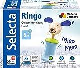 Selecta 61056 Ringo Hund, Greifling mit Quietsche, 12 cm