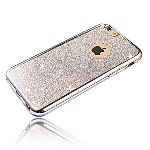 TPU Coque pour iPhone 6S, Sunroyal® Bling Ultra Mince Paillette Case pour Apple iPhone 6/6S (4.7 pouces) Portable Telephone Soft Back Cover Euit Housse en Silicone Skin Protection Shell Coquille Couvrir Coverture Bumper –