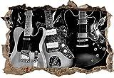 Best guitare électrique pas cher - Monocrome, guitares électriques élégantespercée murale en apparence 3D Review
