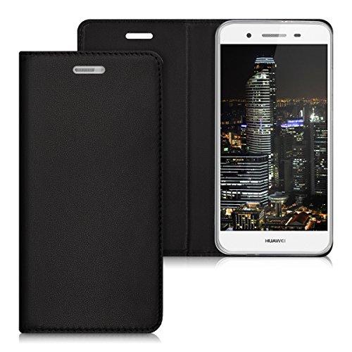 kwmobile Huawei GR3 / P8 Lite SMART Hülle - Kunstleder Handy Schutzhülle - Flip Cover Case für Huawei GR3 / P8 Lite SMART
