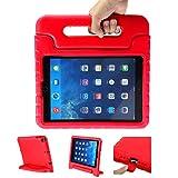 LEADSTAR Kinder Schutzhülle für iPad 9.7 2017 2018, Kinderfreundlich Kinder Schutz Hülle EVA Case Leichte Stoßfeste Schutzhülle Tasche für Apple iPad Air / iPad Air2 / iPad 9.7 2017 2018 (Rot).