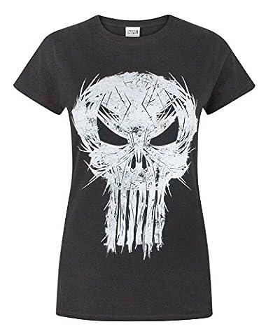 Marvel The Punisher Logo Women's T-Shirt (L)