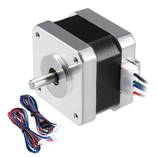 sourcingmap Schrittmotor 42 Bipolar 0,6 Zoll 0,22NM 0,4 A 4,7 V 4 Kabel für 3D Drucker DE de -